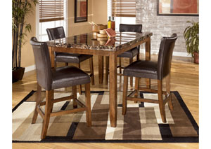 Lacey Rectangular Dining Counter Table & 4 Stools