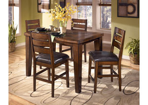 Larchmont Counter Butterfly Extension Table & 4 Stools