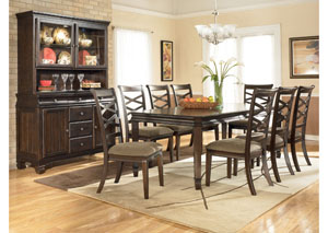 Hayley Contemporary Rectangular Table w/ 8 Chairs