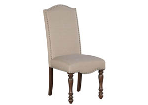 Baxenburg Brown Dining Upholstered Side Chair (Set of 2)
