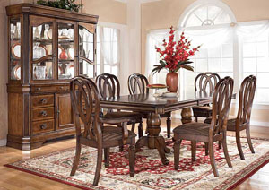 Hamlyn Double Pedestal Table w/ 4 Side Chairs & 2 Arm Chairs