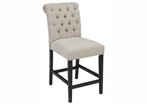 Tripton Medium Linen Upholstered Barstool (Set of 2)