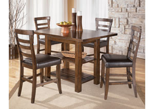 Pinderton Square Counter Extension Table & 4 Stools