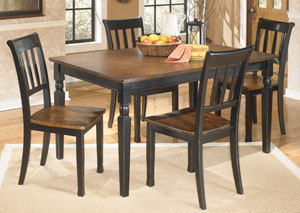 Owingsville Rectangular Dining Table w/4 Side Chairs