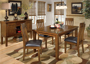Ralene Rectangular Extension Table w/ 4 Upholstered Side Chairs