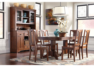 Chimerin Oval Extension Table w/ 6 Side Chairs