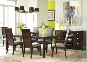 Marxmir Rectangular Extension Table w/ 4 Side Chairs & 2 Arm Chairs