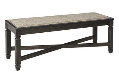 Tyler Creek Black/Grayish Brown Upholstered Dining Bench