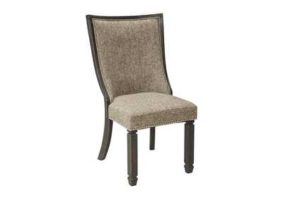 Tyler Creek Black/Grayish Brown Dining Upholstered Side Chair (Set of 2)