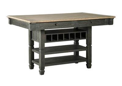 Tyler Creek Black/Grayish Brown Rectangular Dining Room Counter Height Table