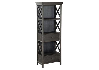 Tyler Creek Black/Grayish Brown Display Cabinet