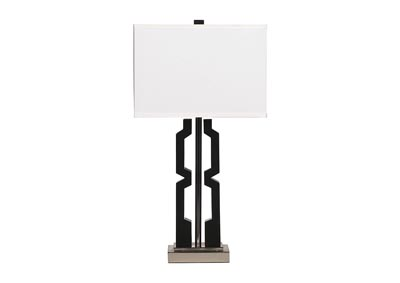 Mitzi Black & Silver Poly Table Lamp (Set of 2)