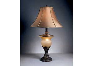 Beige/Bronze Danielle Poly Table Lamp (Set of 2)