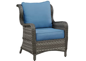 Abbots Court Blue/Gray Lounge Chair w/Cushion (Set of 2)