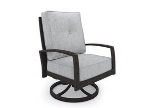 Castle Island Dark Brown Swivel Lounge Chair