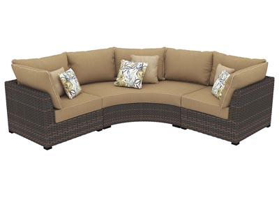 Spring Ridge Beige/Brown Sectional