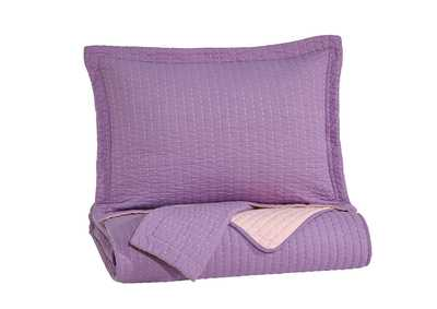 Dansby Lavender/Pink Full Coverlet Set
