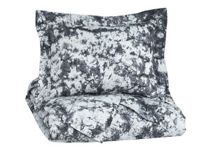 Darra Gray Queen Duvet Cover Set
