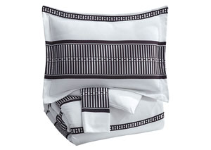 Masako Black/White King Comforter Set