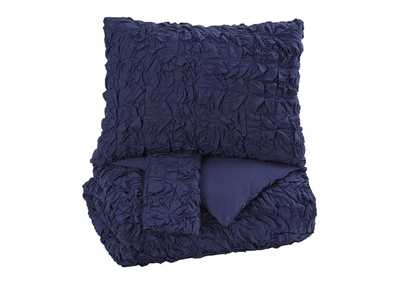 Marksville Indigo King Duvet Cover Set