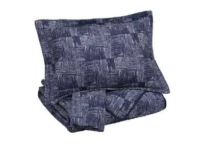 Jabesh Navy King Quilt Set