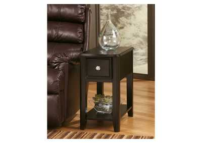 Almost Black Finish Chair Side End Table