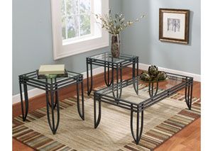 Exeter Occasional Table Set (Cocktail & 2 Ends)