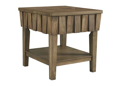 Rowenbeck Brown Rectangular End Table