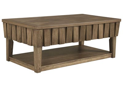 Rowenbeck Brown Lift Top Cocktail Table