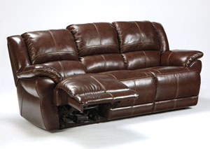 Lenoris Coffee Reclining Sofa