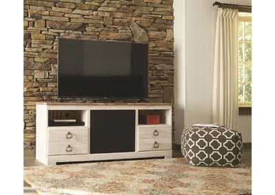 Willowton Whitewash Large TV Stand w/Large Integrated Audio