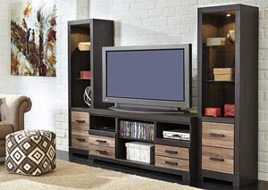 Harlinton Large TV Stand w/Piers