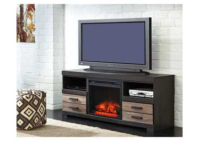 Harlinton Large TV Stand w/LED Fireplace Insert