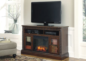 North Shore Large TV Stand w/ LED Fireplace Insert
