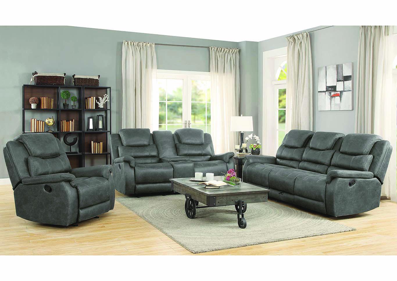 Grey Reclining Sofa Coaster Furniture