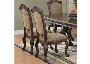 Andrea Tan & Brown Cherry Side Chair (Set of 2)