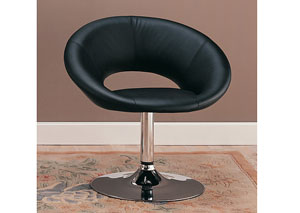 Black & Chrome Leisure Chair