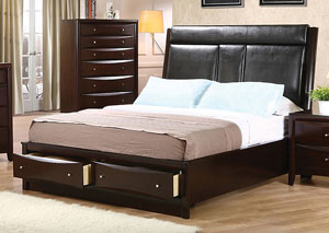 Phoenix Black & Cappuccino Queen Bed