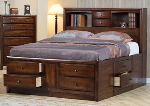 Hillary Walnut King Bed