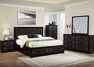 Merlot Queen Bed, Dresser & Mirror