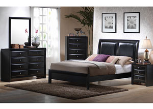 Briana Black King Bed