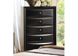 Briana Black Drawer Chest