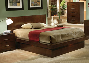 Jessica Cappuccino King Bed