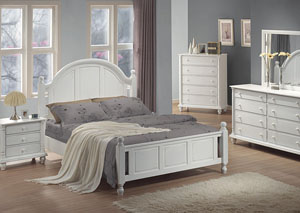 Kayla White Queen Bed, Dresser & Mirror