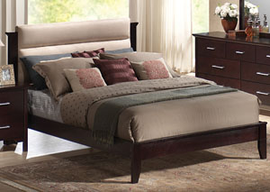 Kendra Mahogany Queen Bed