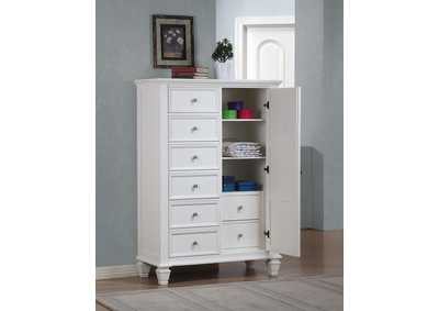 Sandy Beach White Door Chest