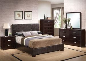 Andreas Brown Queen Bed, Dresser & Mirror