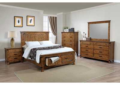 Natural & Honey Full Storage Bed