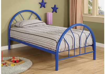 Blue Metal Twin Bed