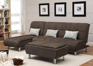 Chaise End Sectional Sofa Bed